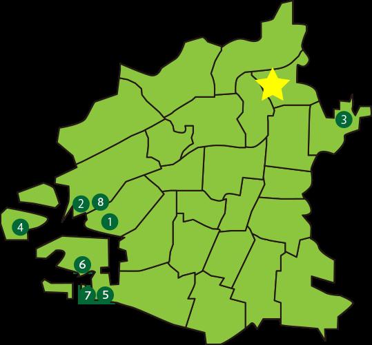 大阪市内の地図